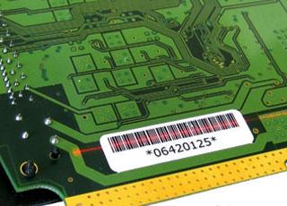 บาร์โค้ดในอุตสาหกรรมอิเล็กทรอนิกส์ (Electronics Industry)