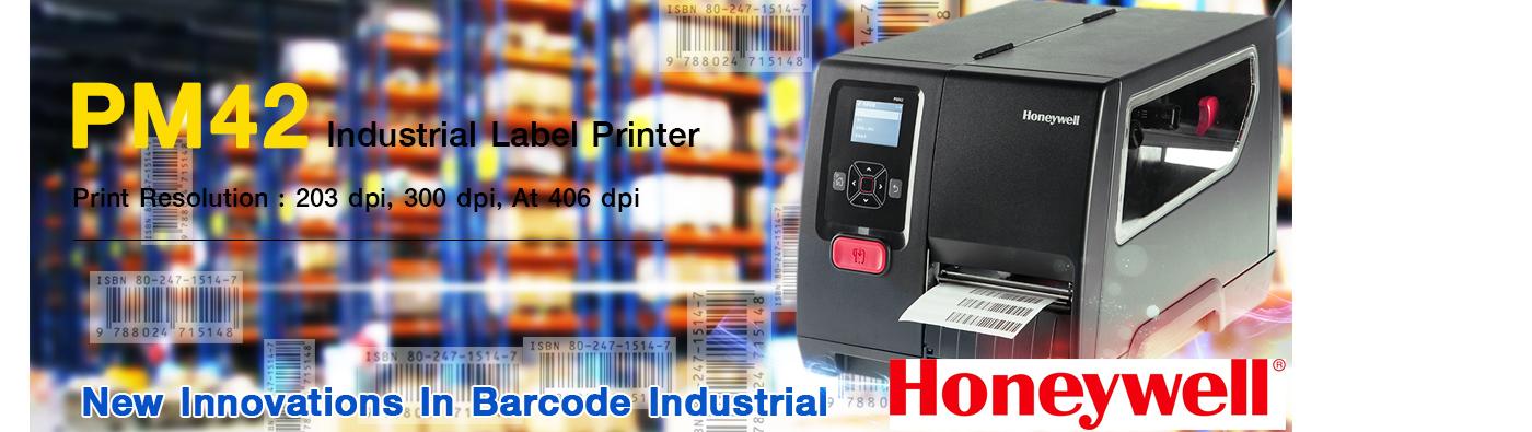 เครื่องพิมพ์บาร์โค้ด Honeywell PM42 Printer Barcode